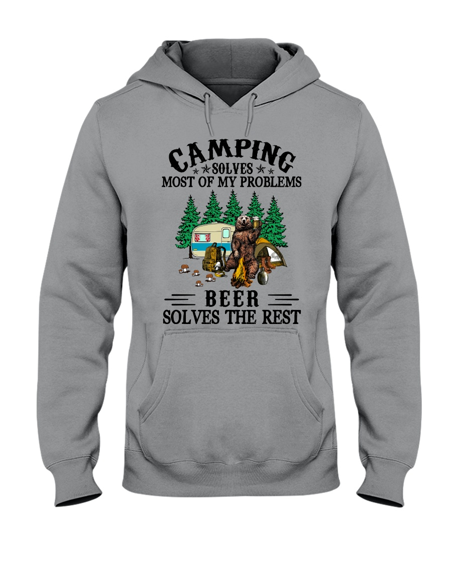 Camping Solves Most Of My Problems Beer solves the rest Shirt7 Copy