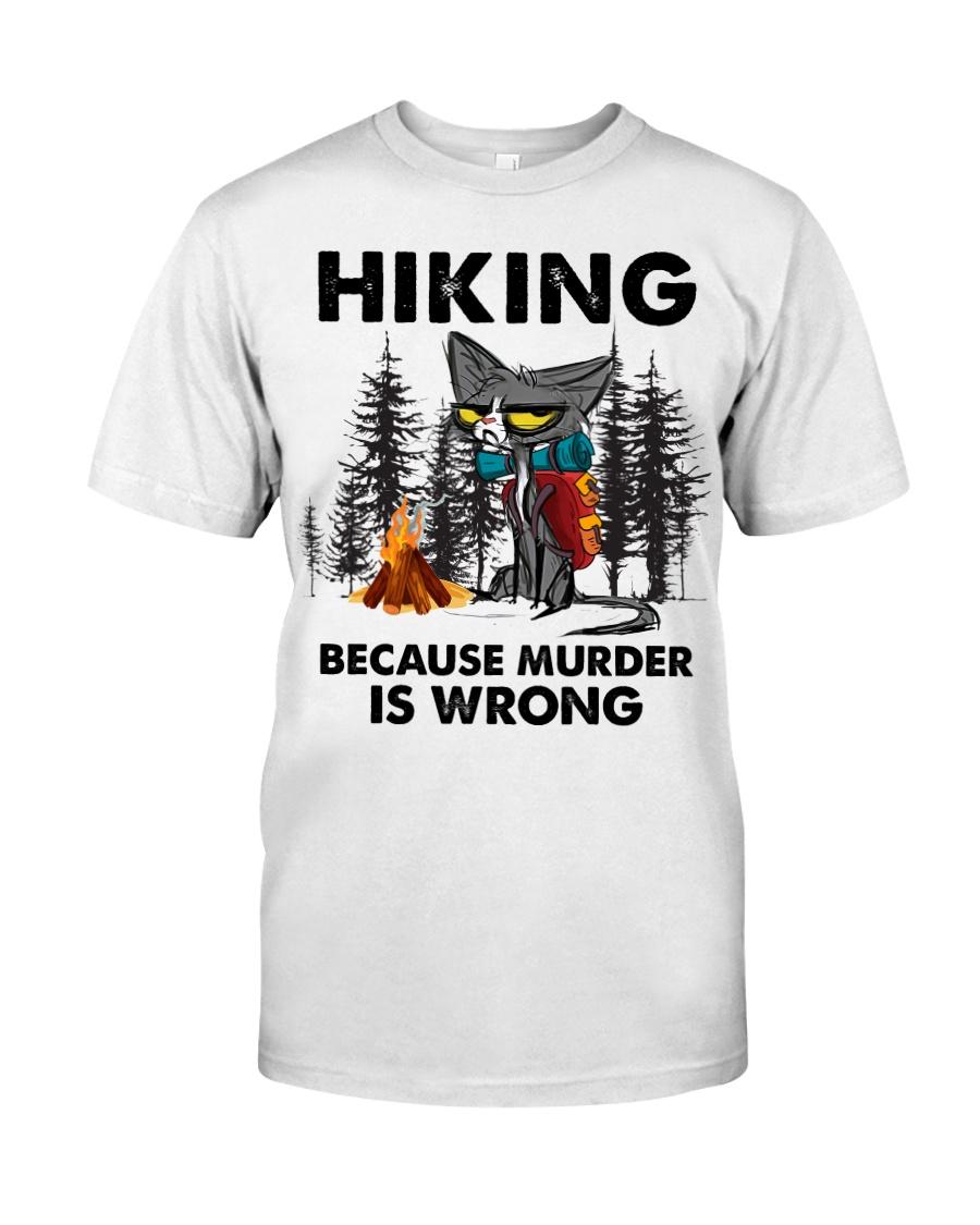 Cat Hiking Because Murder Is Wrong Shirt2