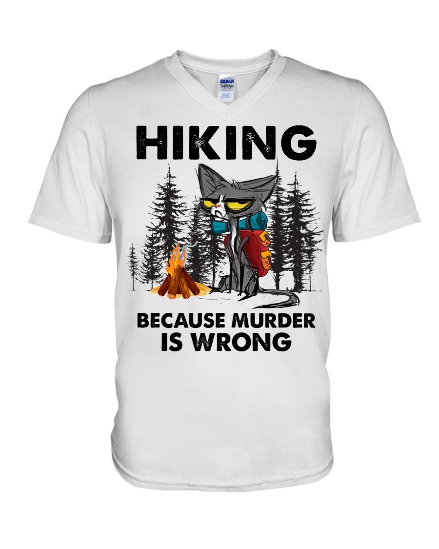 Cat Hiking Because Murder Is Wrong Shirt3