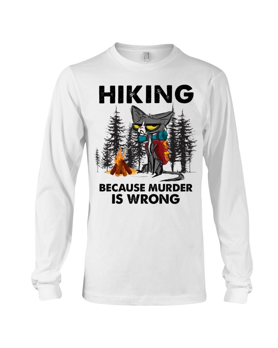 Cat Hiking Because Murder Is Wrong Shirt8