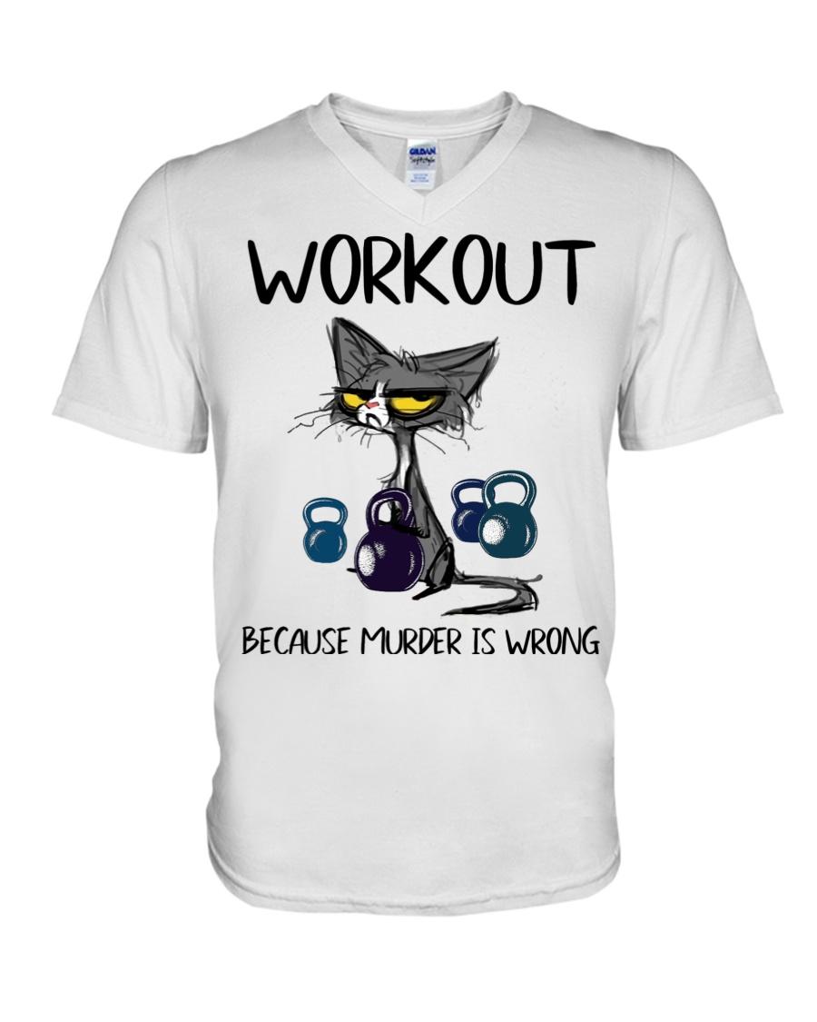 Cat Workout Because Murder is Wrong Shirt1