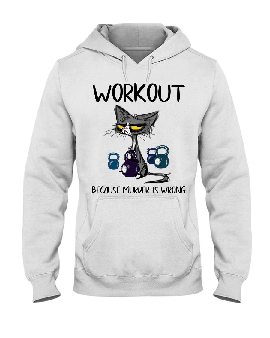 Cat Workout Because Murder is Wrong Shirt4