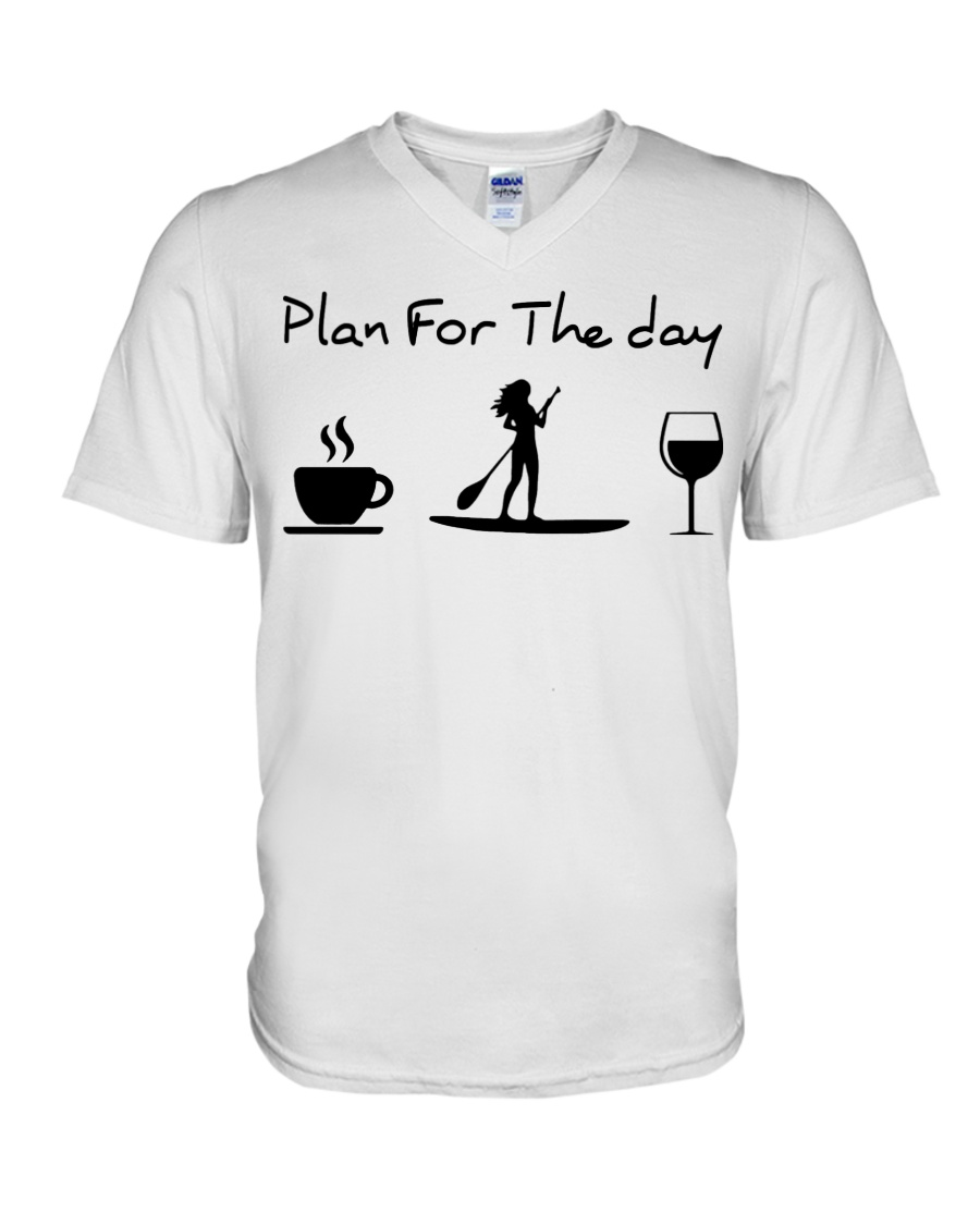Coffee Paddle Poard Wine Plan For The Day Shirt3