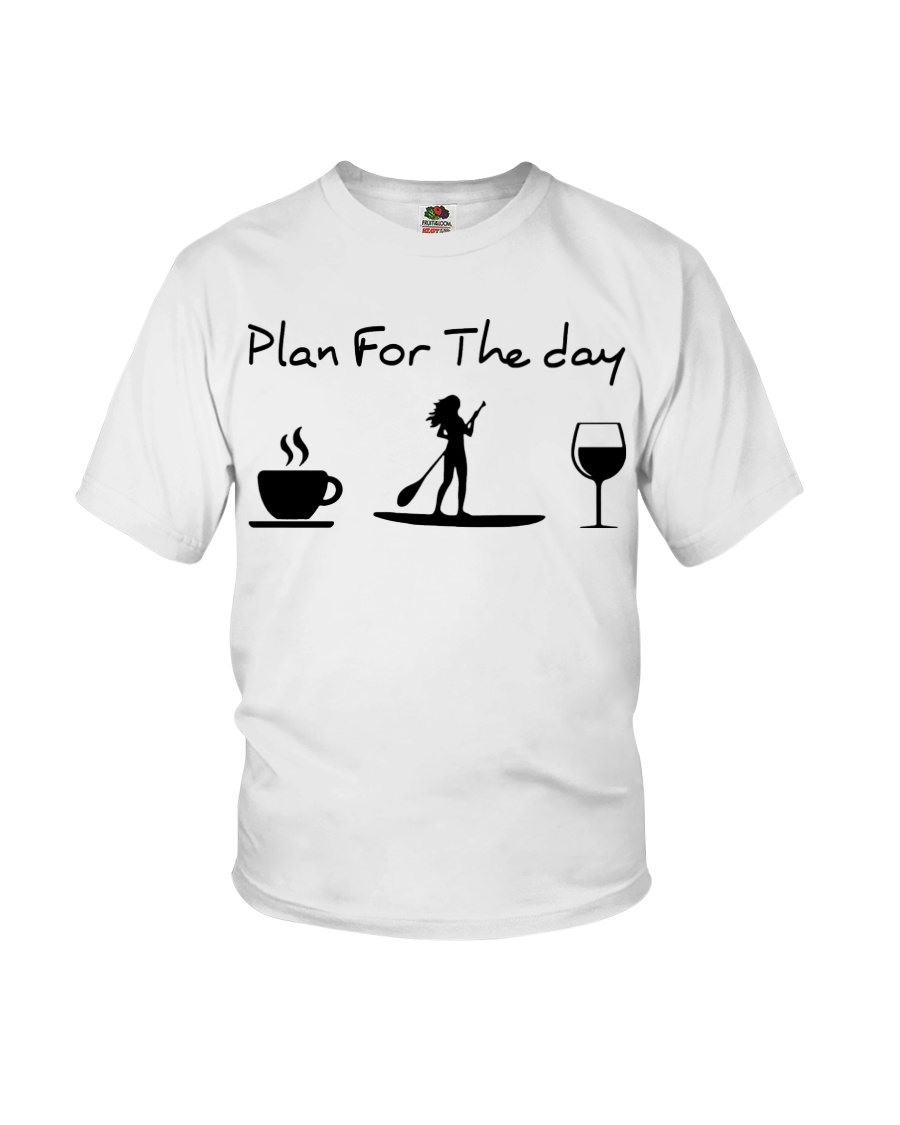 Coffee Paddle Poard Wine Plan For The Day Shirt9