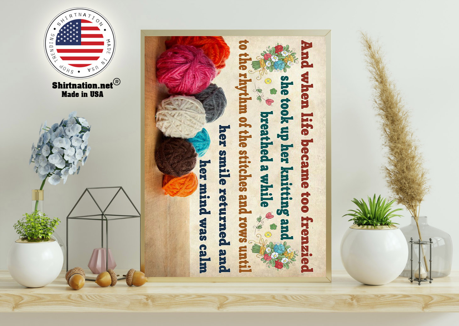 Crochet and knitting and when life became too frenzied poster 11