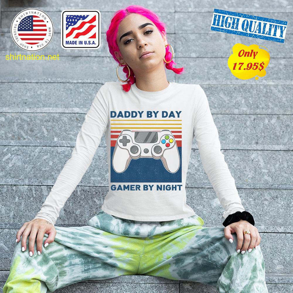 Daddy by day gamer by night shirt 13