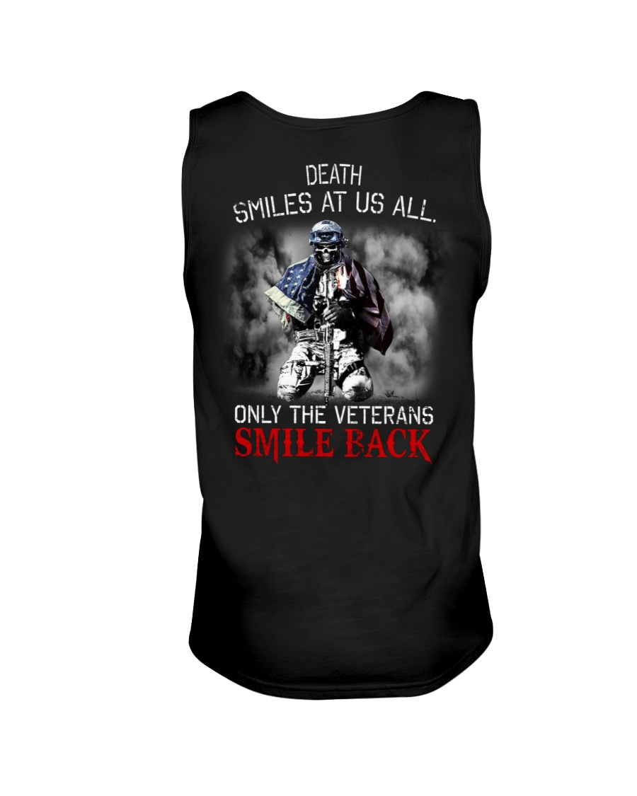 Death Smiles At Us All Only The Veterans Smile Back Shirt9