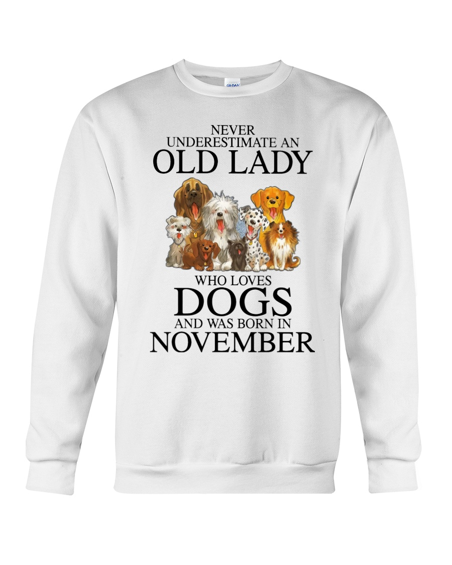 Dog Never Underestimate An Old Lady Who Loves November Shirt7