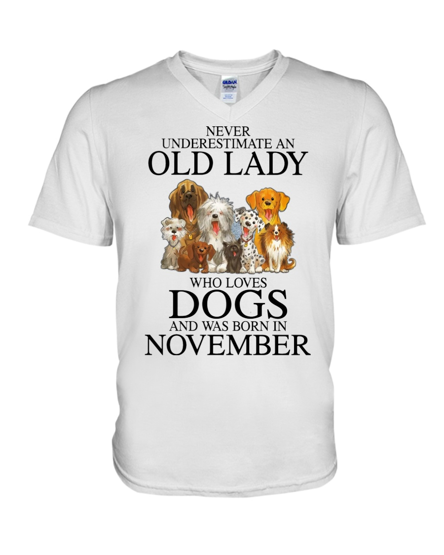 Dog Never Underestimate An Old Lady Who Loves November Shirt9