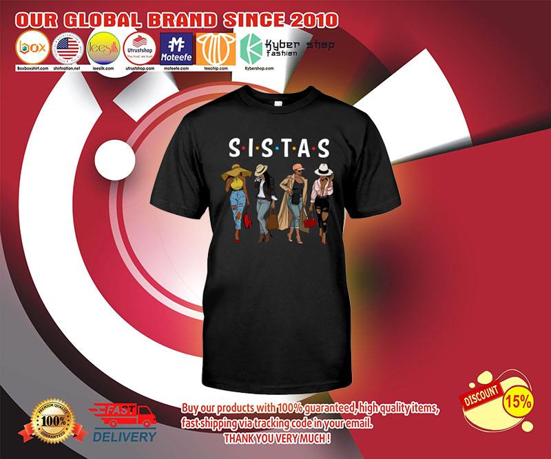 Friends Sistas afro women together shirt 2
