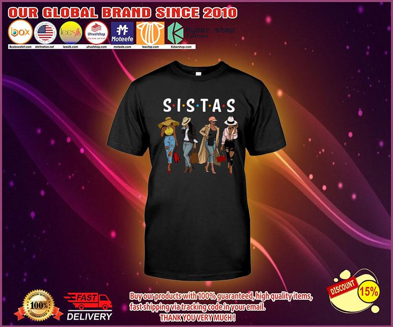 Friends Sistas afro women together shirt 4