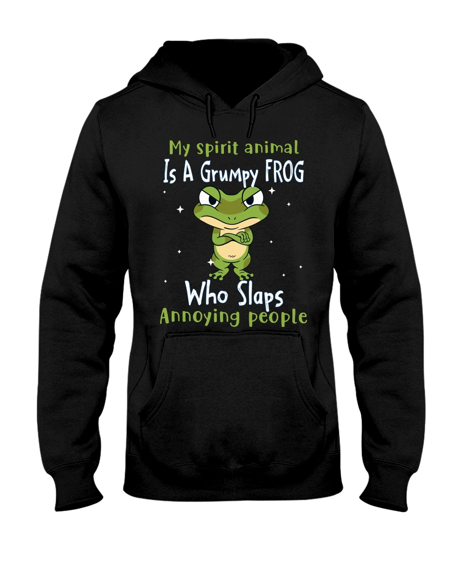 Frog My Spirit Animal Is A Grumpy Frog Who Slaps Annoying People Shirt1