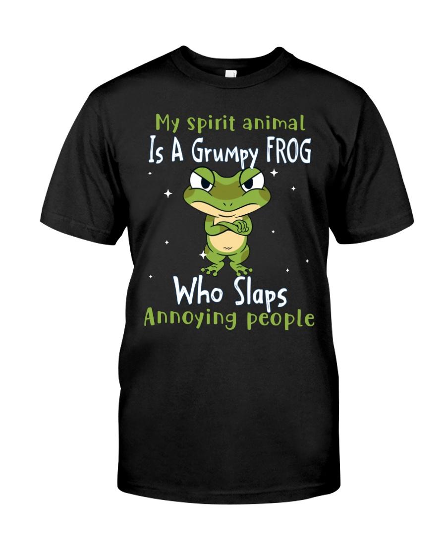 Frog My Spirit Animal Is A Grumpy Frog Who Slaps Annoying People Shirt12