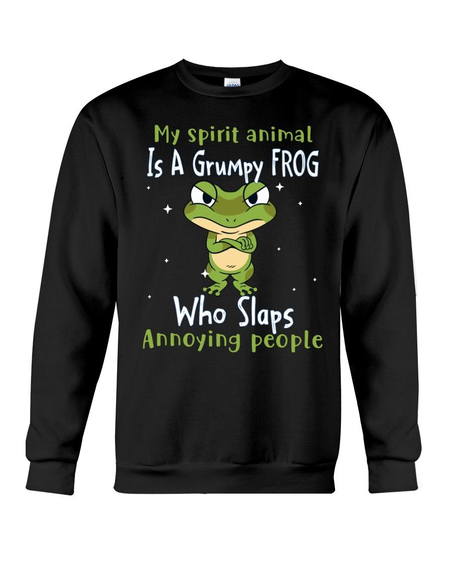 Frog My Spirit Animal Is A Grumpy Frog Who Slaps Annoying People Shirt128