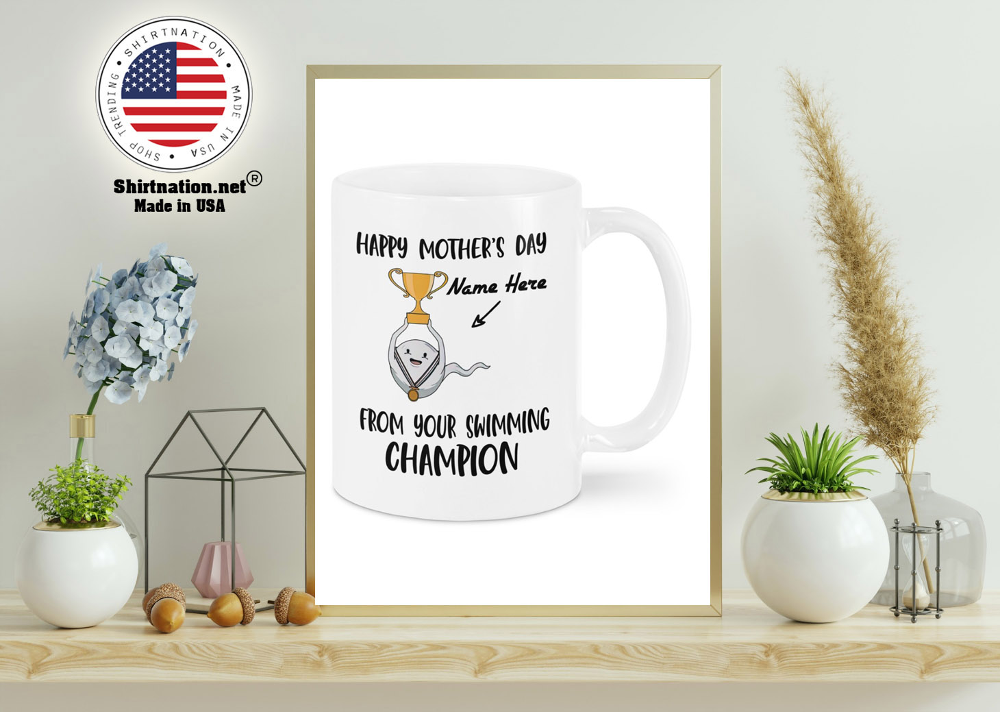 Happy Mothers DAY From Your Swimming Champion custom personalized name Mug 11