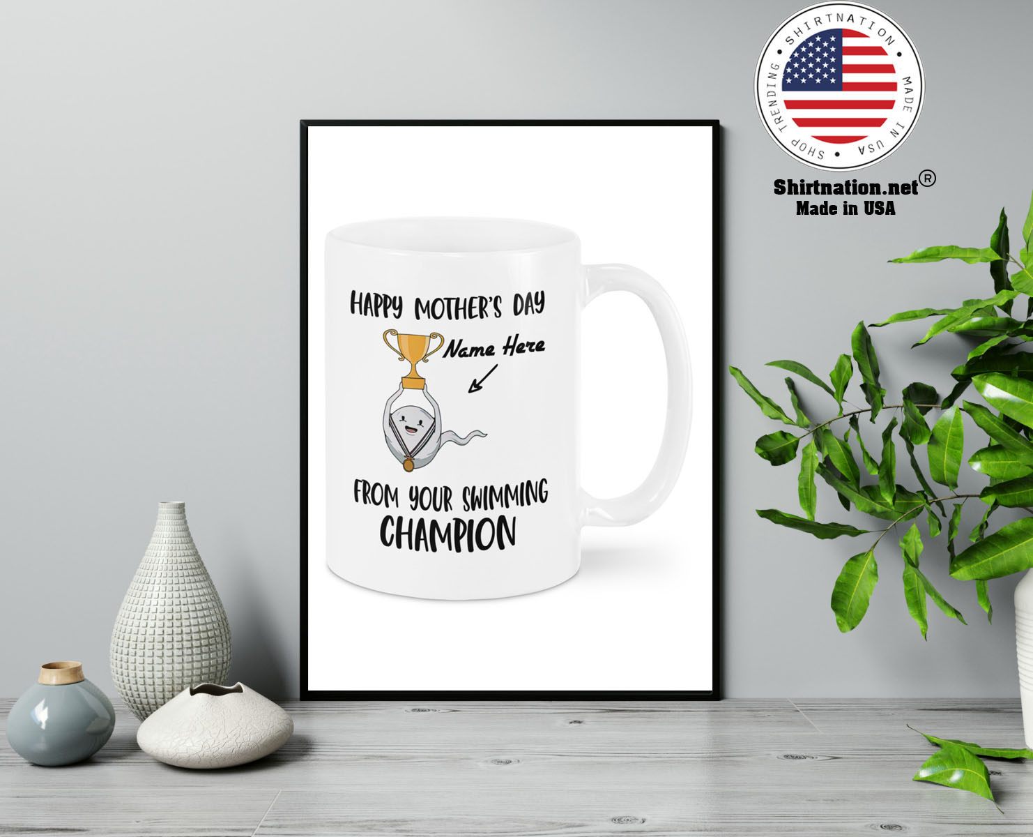 Happy Mothers DAY From Your Swimming Champion custom personalized name Mug 13