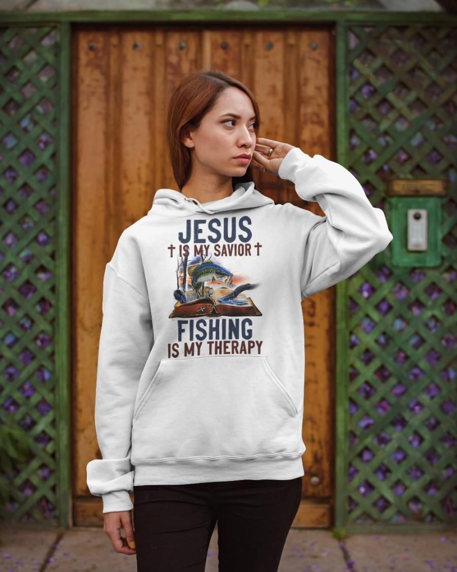 Jesus Is My Savior Fishing Is My Therapy Shirt0