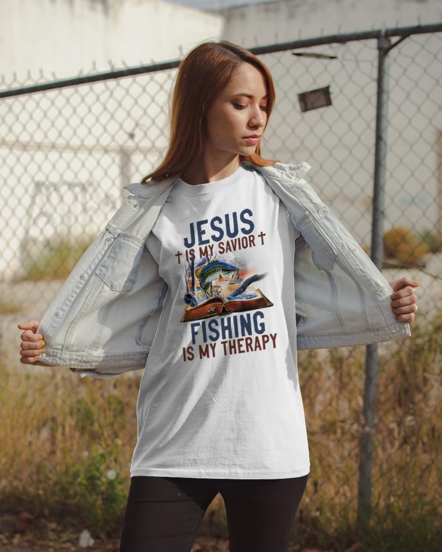 Jesus Is My Savior Fishing Is My Therapy Shirt1