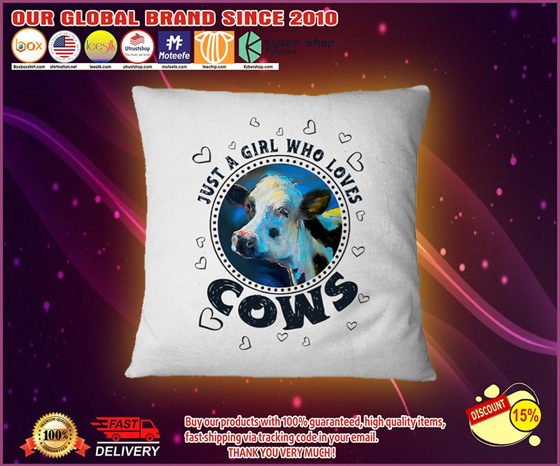 Just a girl who loves cows pilow 4