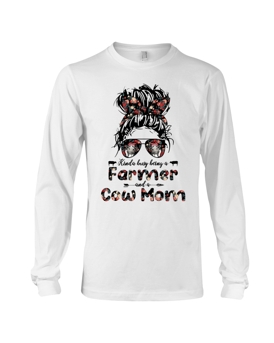 Kinda Busy Being A Farmer And A Cow Mom Shirt0