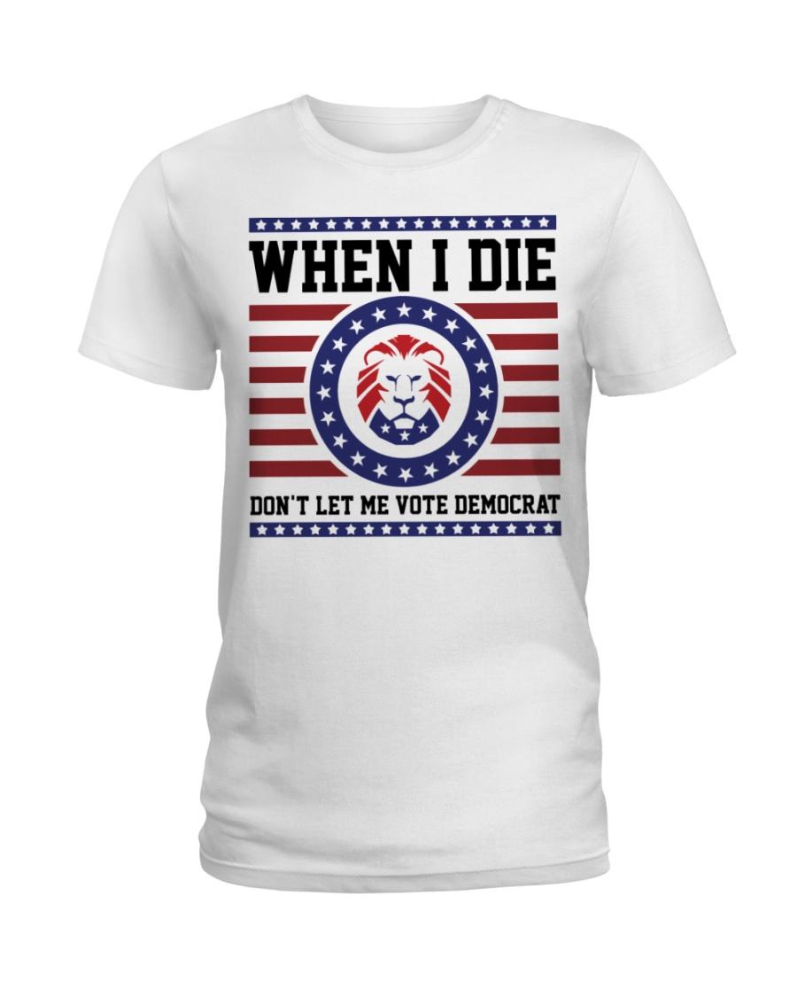 Lion When I Die Dont Let Me Vote Democrat Shirt1