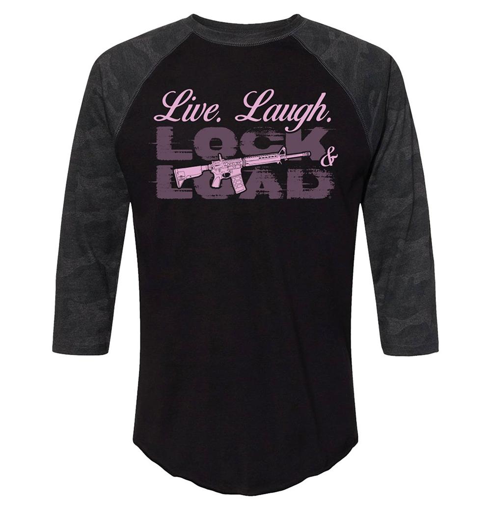 Live. Laugh. Lock Load and Gun Shirt3