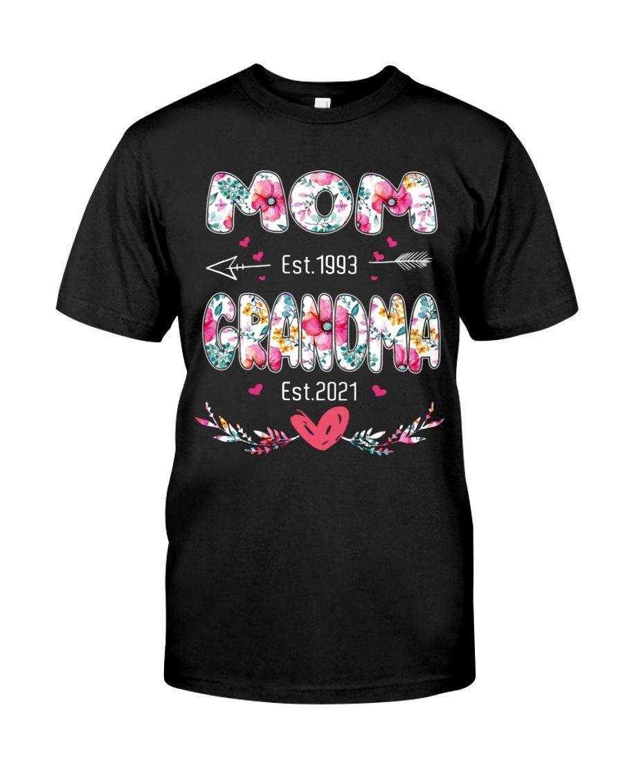 Mom est.1993 Grandma Est.2021 Shirt9