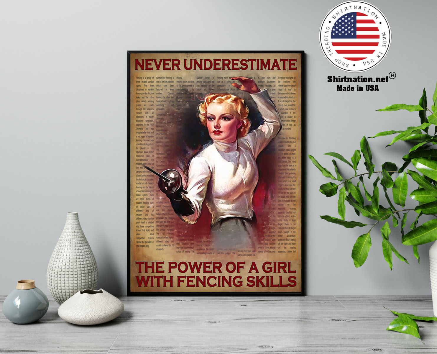 Never underestimate the power of a girl with fencing skills poster 13