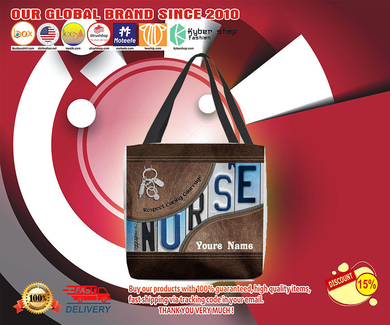 Nurse respect caring courage tote bag 3
