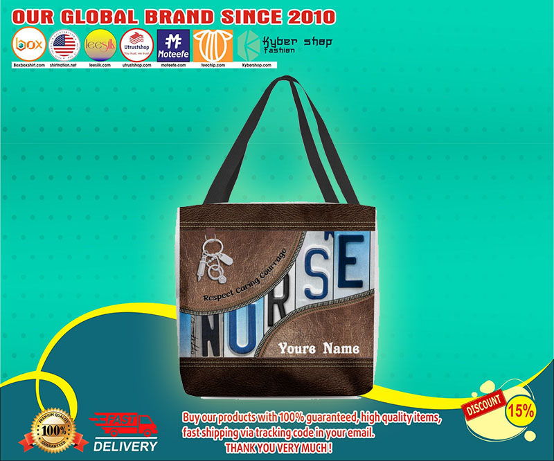 Nurse respect caring courage tote bag 4