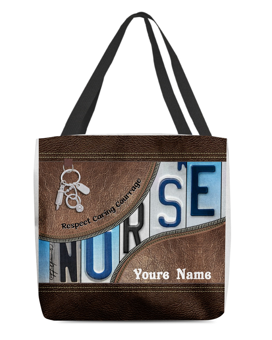 Nurse respect caring courage tote bag as