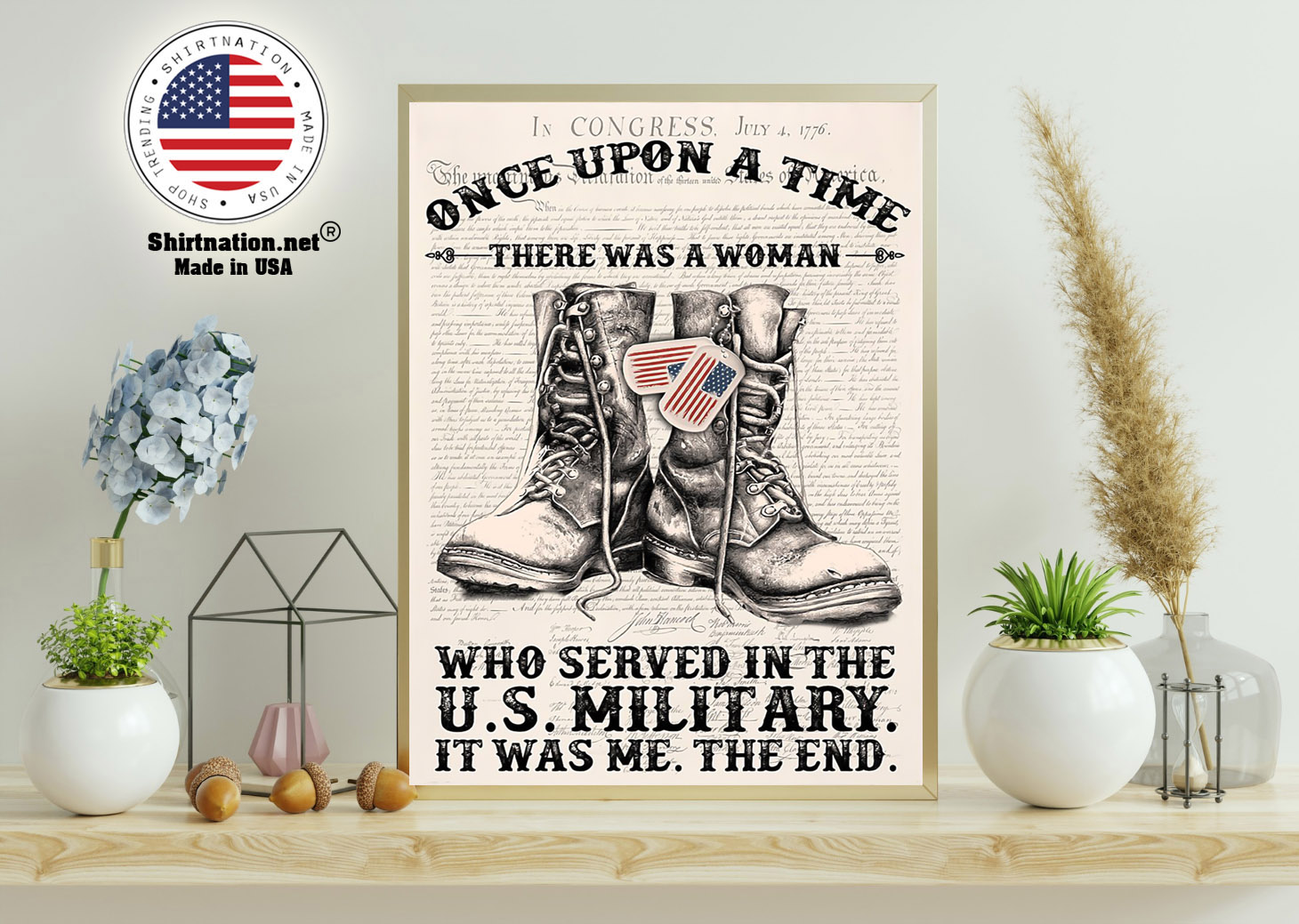 Once upon a time there was a woman who served in the US military poster 11