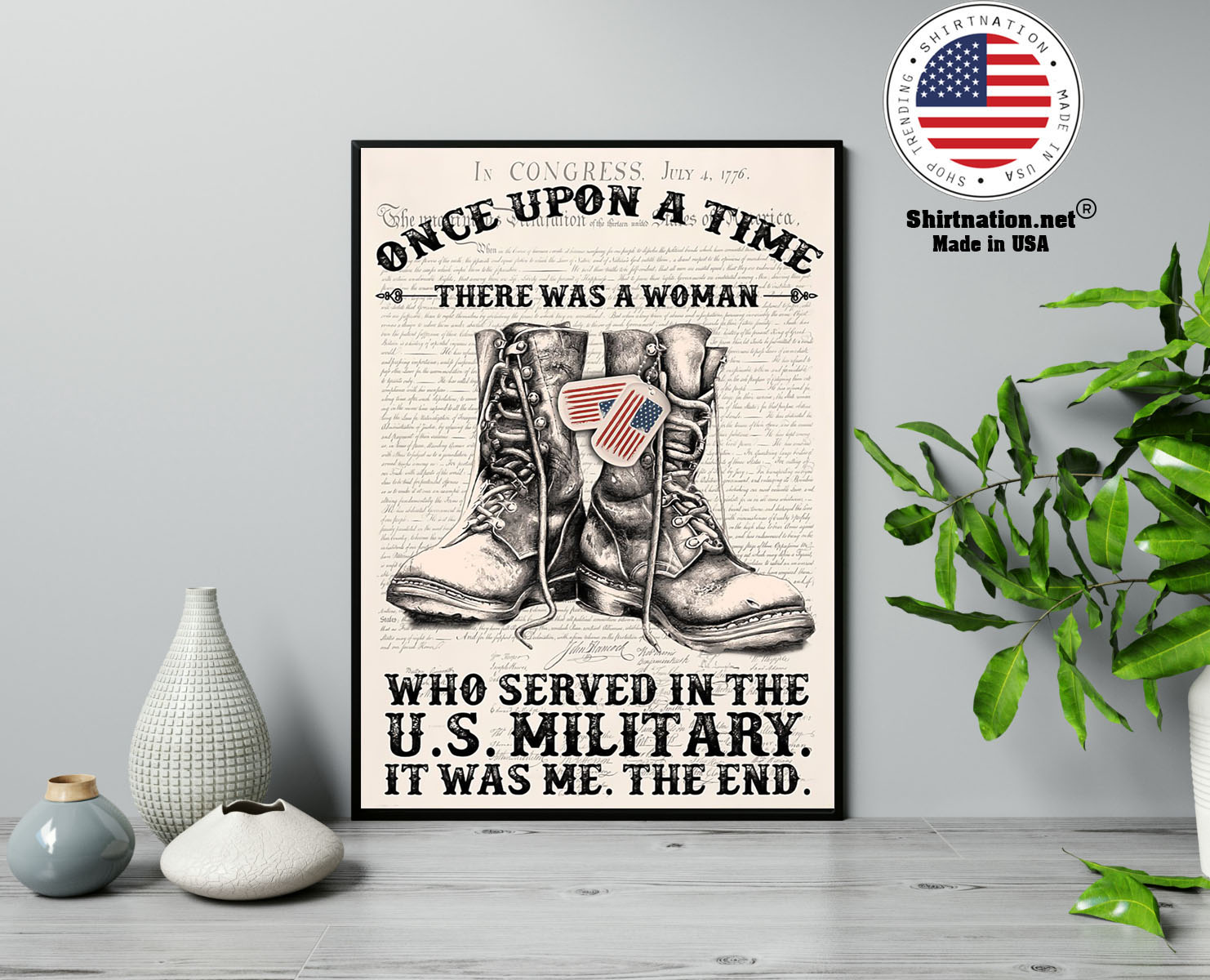 Once upon a time there was a woman who served in the US military poster 13