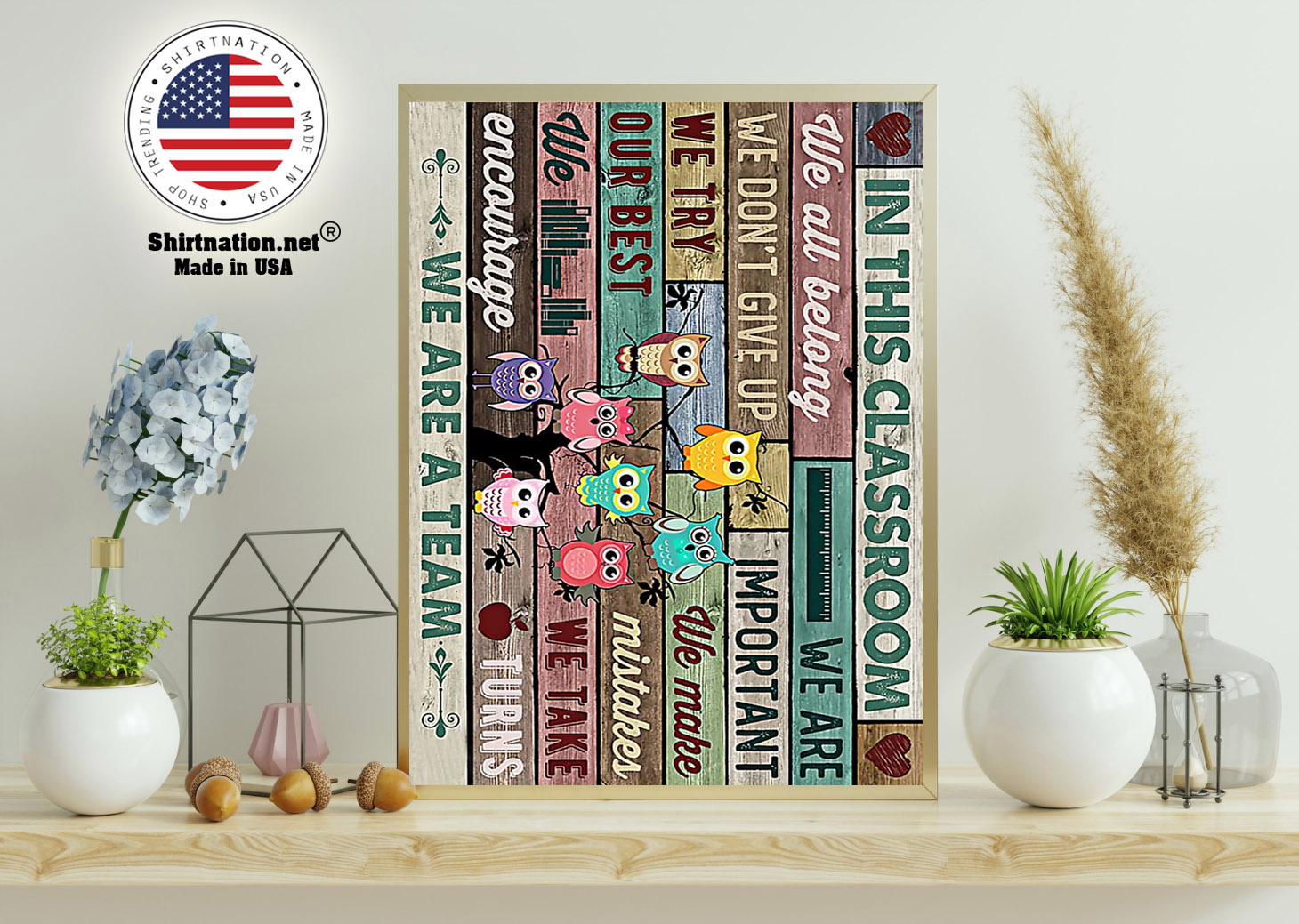 Owl Teachers in this classroom we are a team poster 11