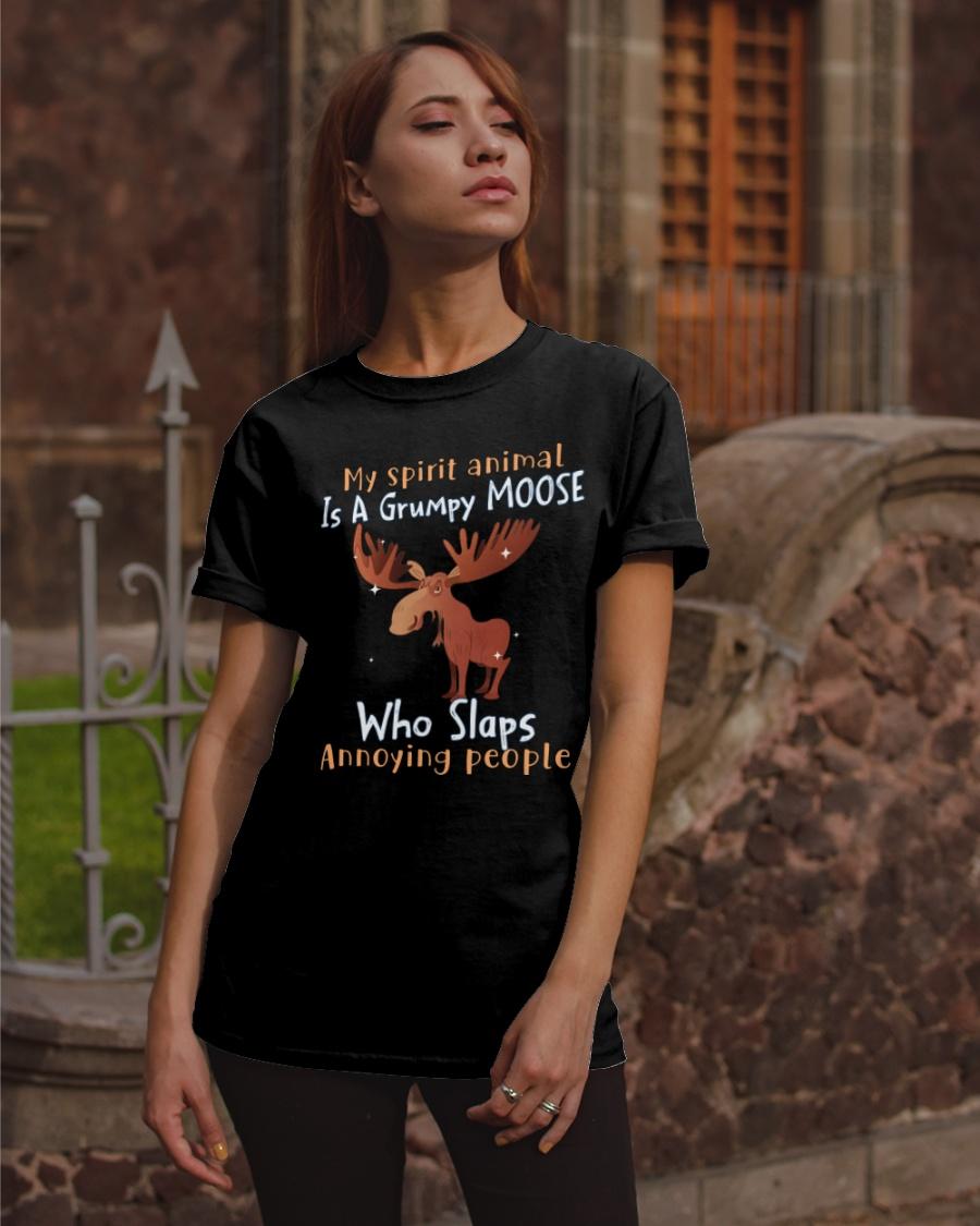 Reindeer My Spirit Animal Is A Grumpy Moose Who Slaps Shirt1