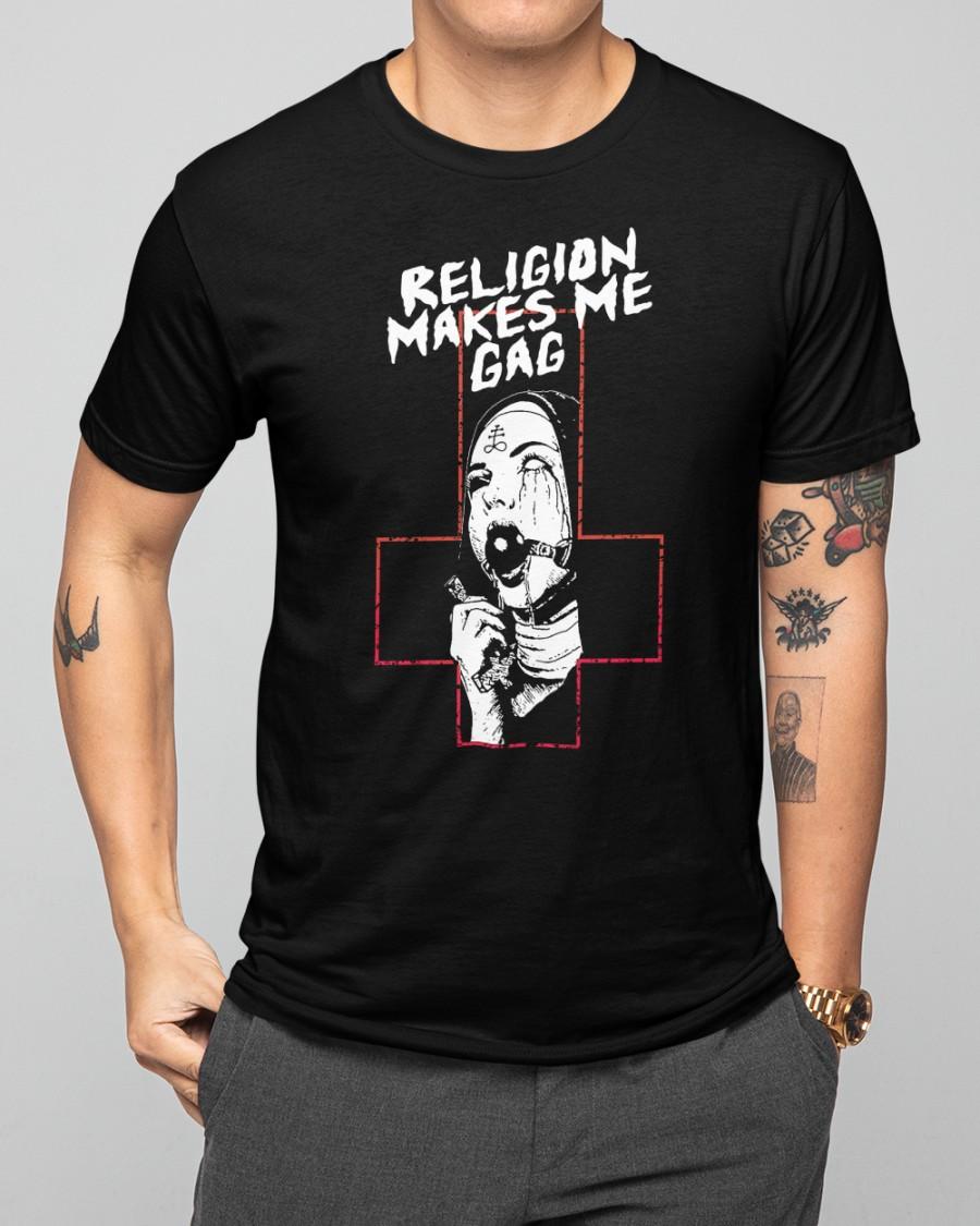 Religion Makes Me Gag Shirt5