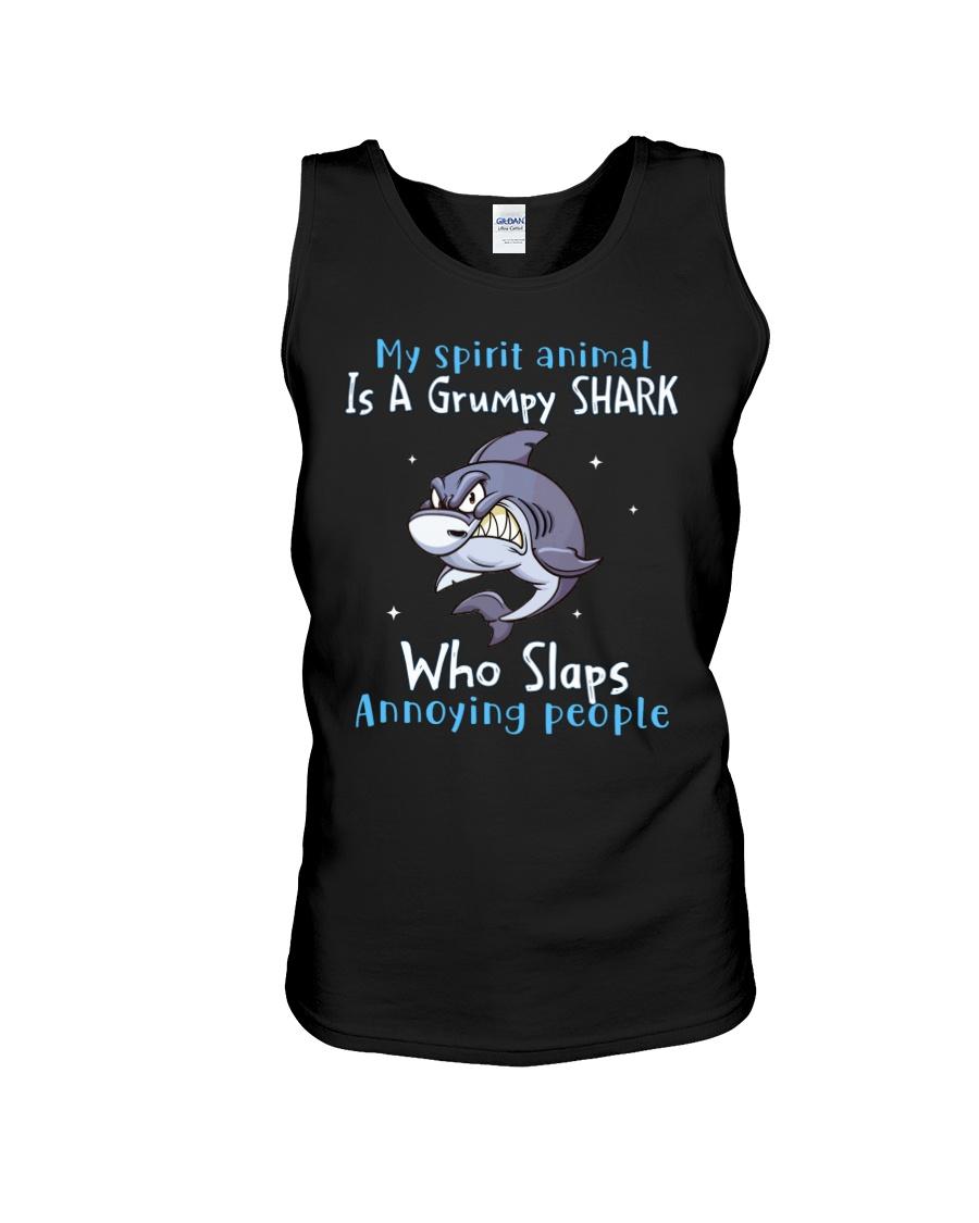 Shark My Spirit Animal is a Grumpy Shark who Slaps Annoying People Shirt12