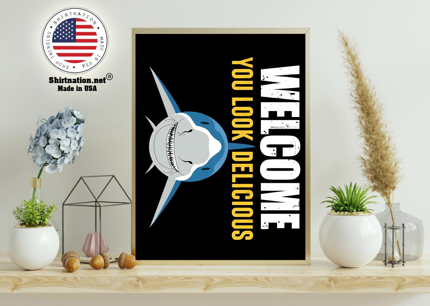 Shark welcome you look delicious doormat 11