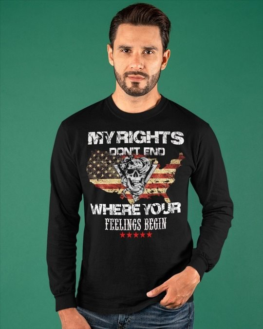 Skull My Rights Dont end Where Your Feelings Begin Shirt4