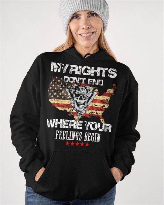 Skull My Rights Dont end Where Your Feelings Begin Shirt6
