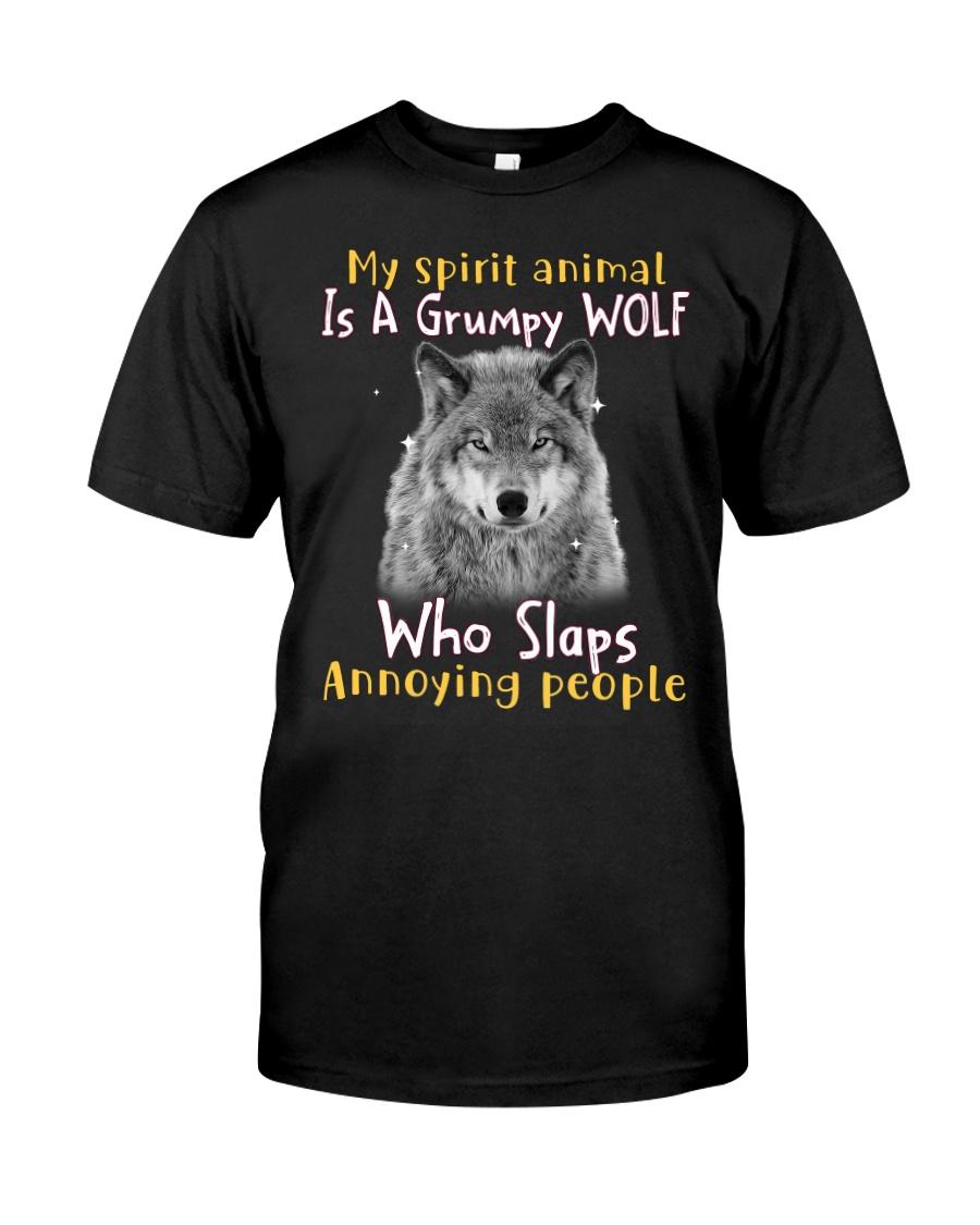 Wolf My Spirit Animal Is A Grumpy Wolf Who Slaps Annoying People Shirt12