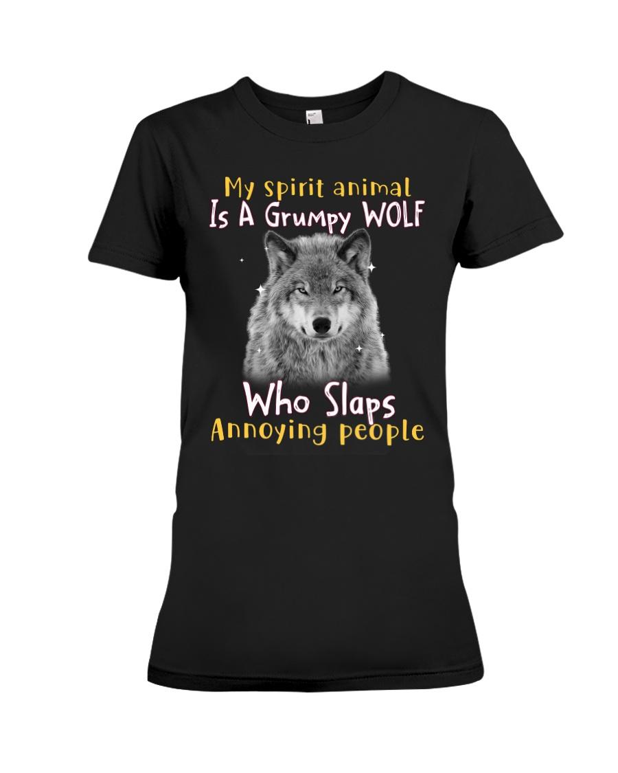 Wolf My Spirit Animal Is A Grumpy Wolf Who Slaps Annoying People Shirt123