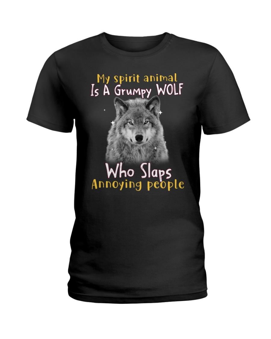 Wolf My Spirit Animal Is A Grumpy Wolf Who Slaps Annoying People Shirt1235