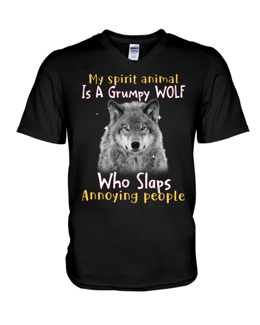 Wolf My Spirit Animal Is A Grumpy Wolf Who Slaps Annoying People Shirt15