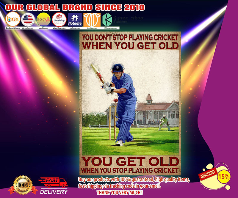 You dont stop playing cricket when you get old poster 2