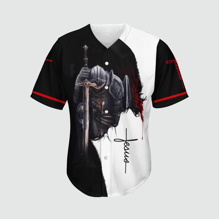 A child of god a man of faith a warrior of christ baseball jersey2