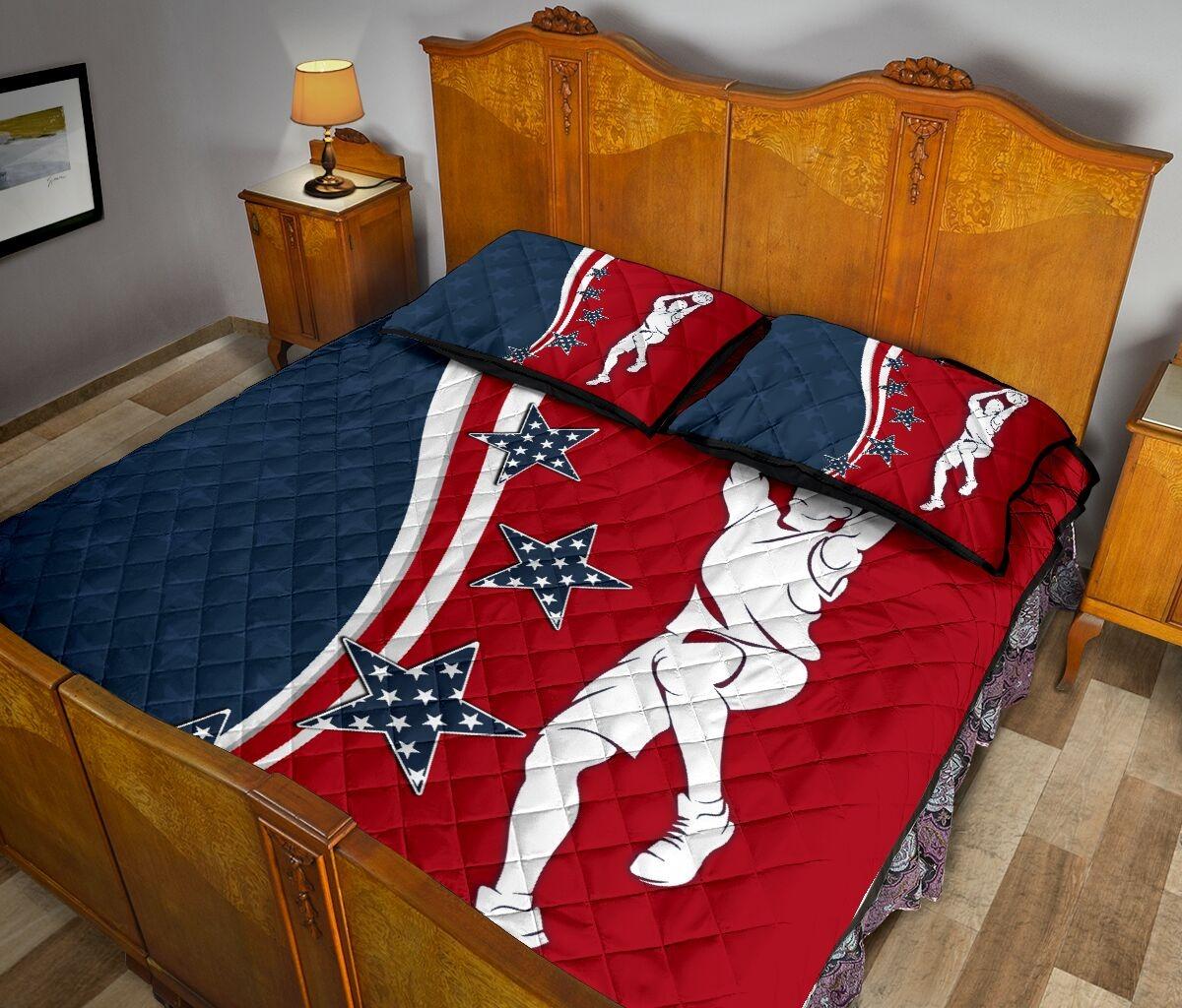 American baseketball quilt bedding set3