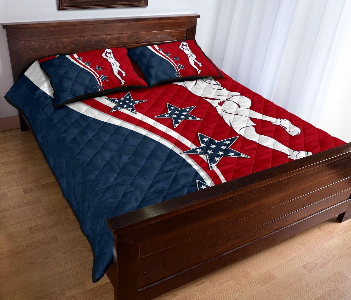 American baseketball quilt bedding set2