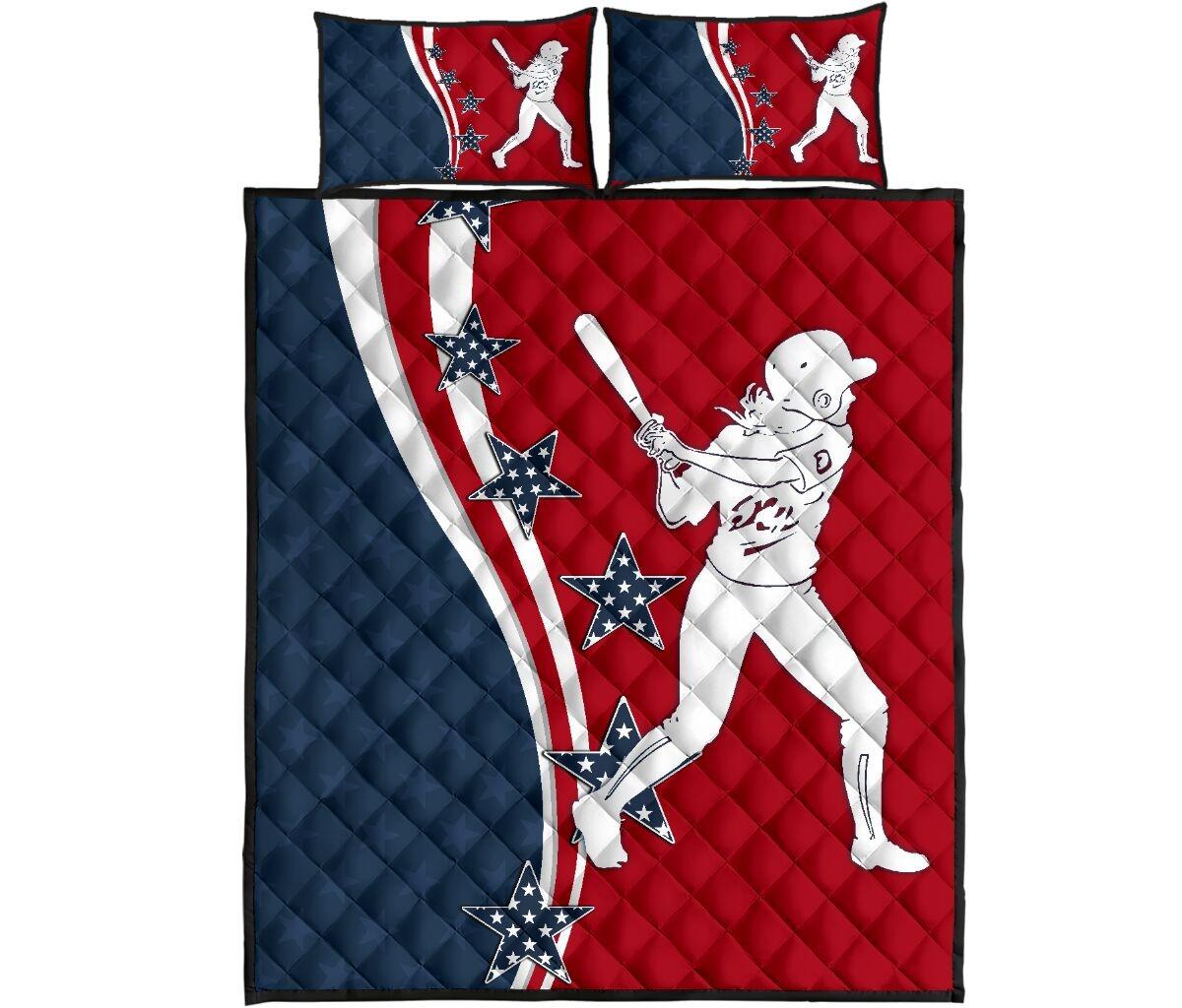 American softball quilt bedding set4