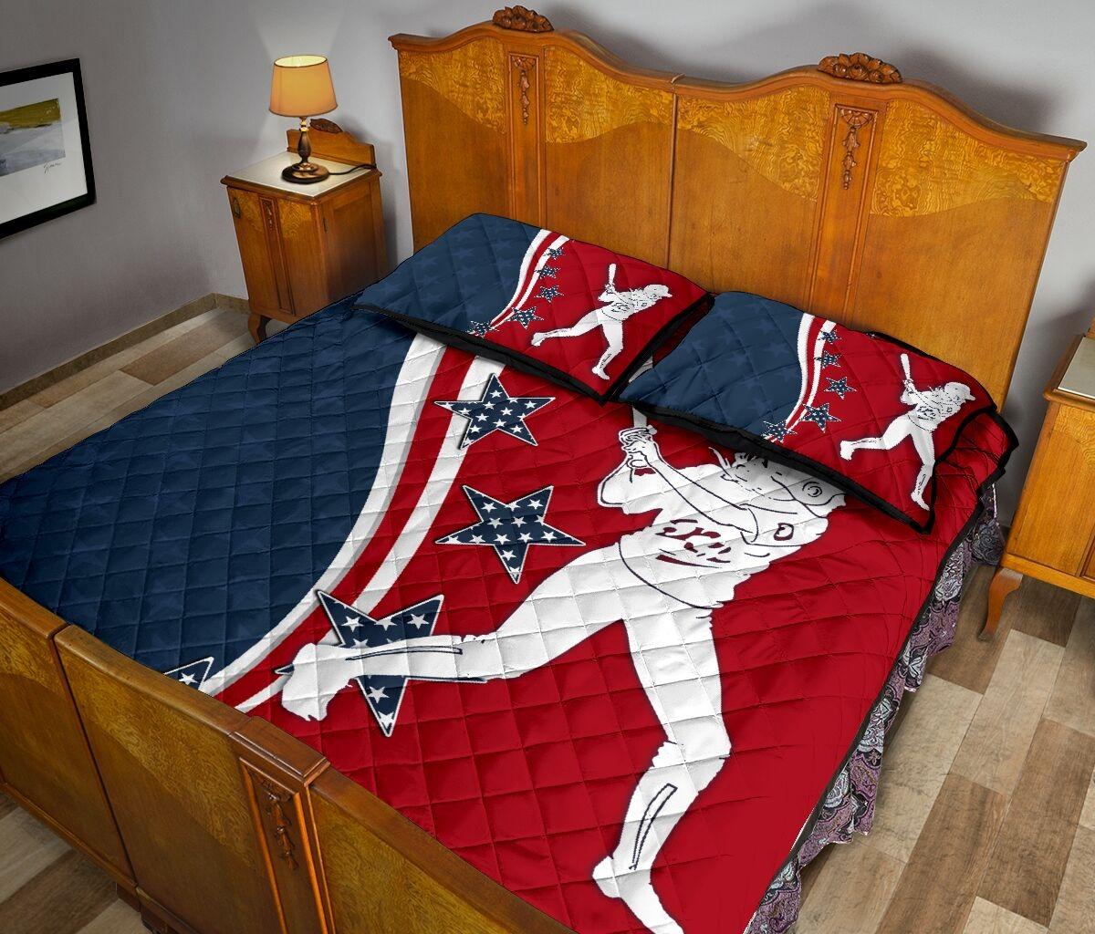 American softball quilt bedding set3